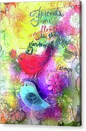 Acrylic Print featuring the digital art Friends Always by Claire Bull
