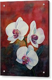 Acrylic Print featuring the painting Friends by Anna Ruzsan