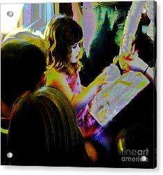 Friends Gather Round Acrylic Print by JoAnn SkyWatcher