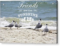 Acrylic Print featuring the photograph Friends In Life by Jan Amiss Photography