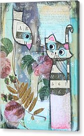 Friends Acrylic Print by Johanna Virtanen