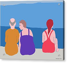 Friends On Beach Acrylic Print