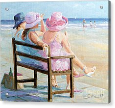 Friends Together Acrylic Print by Paul Milner