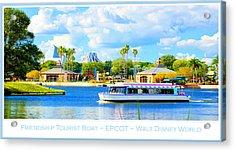 Friendship Boat On The Lagoon Epcot Walt Disney World Acrylic Print