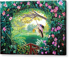 Friendship Garden Acrylic Print