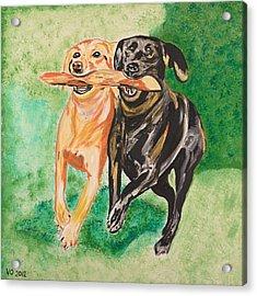 Friendship Acrylic Print by Valerie Ornstein