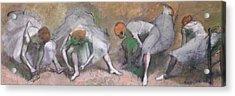 Frieze Of Dancers Acrylic Print by Edgar Degas