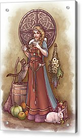 Frige And Her Drop Spindle Acrylic Print