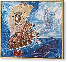 Friggin In The Riggin - Kon Tiki Expedition Acrylic Print