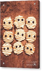 Frightened Mummy Baked Biscuits Acrylic Print by Jorgo Photography - Wall Art Gallery