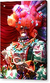 Frightening Dame Acrylic Print by Jez C Self