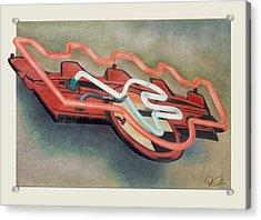 Frigidaire Acrylic Print by Van Cordle