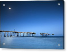 Frisco Pier Cape Hatteras Outer Banks Nc - Crossing Over Acrylic Print