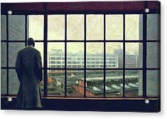 Frits Is Overlooking His Philips Plants In Eindhoven Acrylic Print by Nop Briex