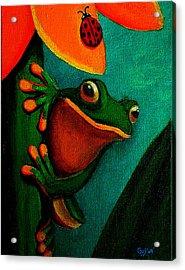 Frog And Ladybug Acrylic Print