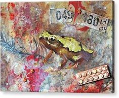 Frog Prince Acrylic Print by Jennifer Kelly