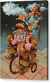 Froggy Circus Acrylic Print