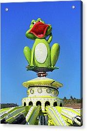 Froggy Acrylic Print by Don Pedro De Gracia
