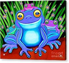 Froggy Family Acrylic Print