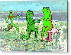 Froggy Went A Courtin Acrylic Print