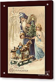 Frohe Weihnachten Vintage Greeting Acrylic Print by Melissa Messick