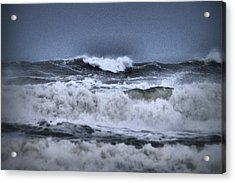 Acrylic Print featuring the photograph Frolicsome Waves by Jeff Swan