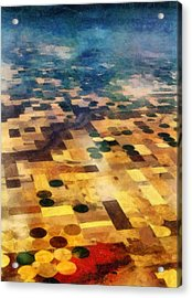 Acrylic Print featuring the digital art From Above by Michelle Calkins