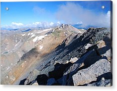 Acrylic Print featuring the photograph From Atop Mount Massive by Cascade Colors