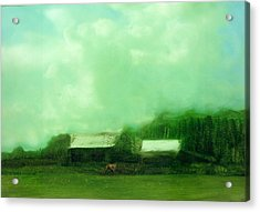 Acrylic Print featuring the painting From Ground To Sky by FeatherStone Studio Julie A Miller