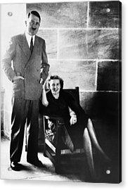From Left, Adolf Hitler, Eva Braun Acrylic Print