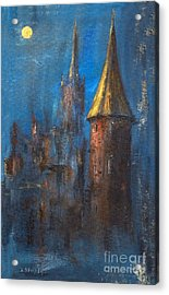 Acrylic Print featuring the painting From Medieval Times by Arturas Slapsys