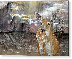 Acrylic Print featuring the painting From My Eyes I See by Debbi Saccomanno Chan