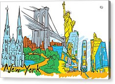 From Old To New York Acrylic Print by Stanley Mathis