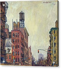 From Orchard Street Nyc Acrylic Print by Thor Wickstrom