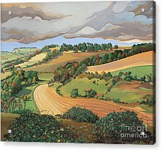 From Solsbury Hill Acrylic Print by Anna Teasdale