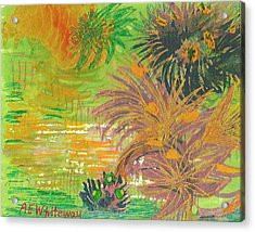 From Tahiti With Love Acrylic Print by Anne-Elizabeth Whiteway