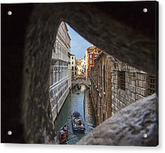 From The Bridge Of Sighs Venice Italy Acrylic Print by Rick Starbuck