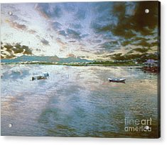Acrylic Print featuring the photograph From The Causeway by Leigh Kemp