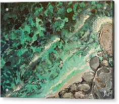 Acrylic Print featuring the painting From The Cliff by Dan Whittemore