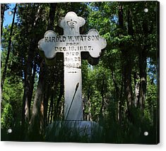 From The Grave No4 Acrylic Print by Peter Piatt