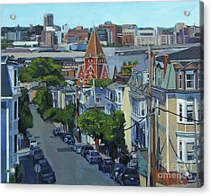 From The Heights To Boston Acrylic Print