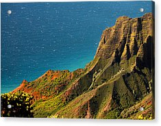 Acrylic Print featuring the photograph From The Hills Of Kauai by Debbie Karnes