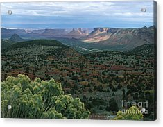 From The La Sal Mountains Acrylic Print by Stan and Anne Foster