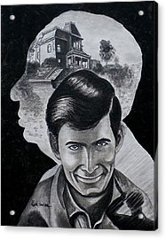 Acrylic Print featuring the painting From The Mind Of Hitchcock by Al  Molina