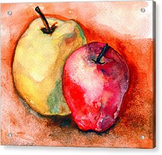 From The Orchards Acrylic Print by Amira Najah Whitfield