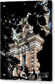 Acrylic Print featuring the photograph From The Park by Robert D McBain
