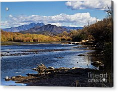 From The Salt Acrylic Print by Kathy McClure
