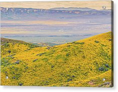 Acrylic Print featuring the photograph From The Temblor Range To The Caliente Range by Marc Crumpler
