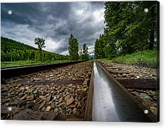 Acrylic Print featuring the photograph From The Track by Darcy Michaelchuk