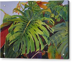 Fronds And Foliage Acrylic Print